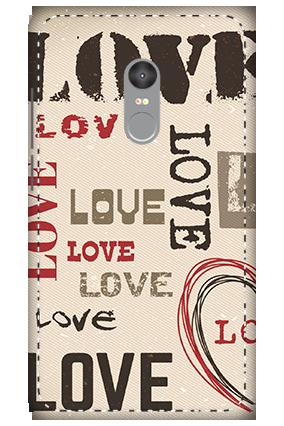 3D - Xiaomi Redmi Note 4 Intense Love Mobile Covers
