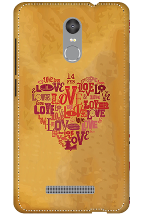 3D - Redmi Note 3 Love In Heart Mobile Covers
