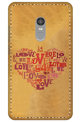 3D - Xiaomi Redmi Note 4 Love In Heart Mobile Covers