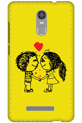 3D - Redmi Note 3 Adorable Couple Mobile Covers