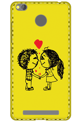 3D - Xiaomi Redmi 3S Prime Adorable Couple Mobile Covers