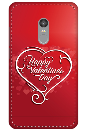3D - Xiaomi Redmi Note 4 Dusky Red Heart Mobile Covers