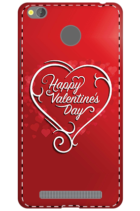 3D - Xiaomi Redmi 3S Prime Dusky Red Heart Mobile Covers