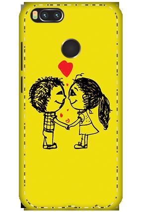 3D - Xiaomi Mi A1 Adorable Couple Mobile Covers