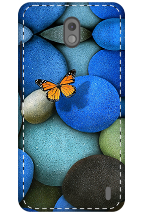 3D - Nokia 2 Colorful Stones Mobile Cover