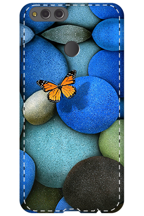 3D - Huawei Honor 7X Colorful Stones Mobile Cover