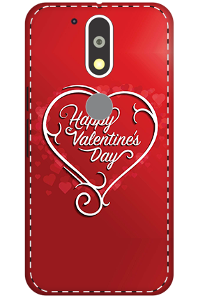 3D - Motorola Moto G4 Plus Dusky Red Heart Mobile Covers