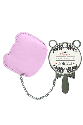 Latest Designer With Pouch Cover Hand Mirror With Leather Case