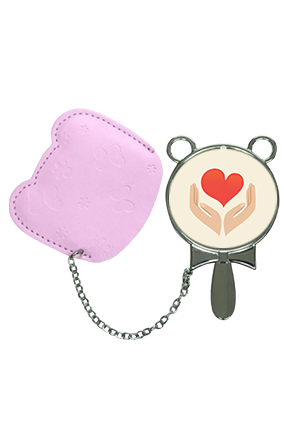 Stylish Mirror With Pouch Cover Hand Mirror With Leather Case