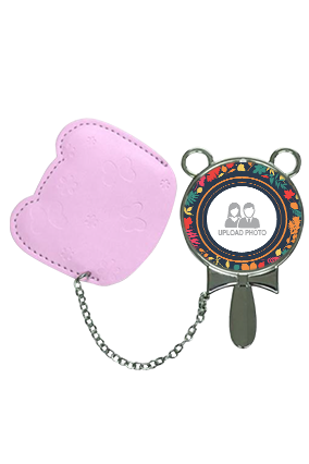 Multiple Colors With Pouch Cover Hand Mirror With Leather Case