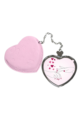 Our Love Heart Hand Mirror With Leather Case