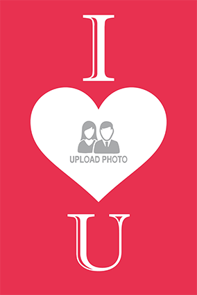 I love U With Heart Poster