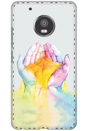 3D - Moto G5 Plus Colorful Hand Mobile Cover