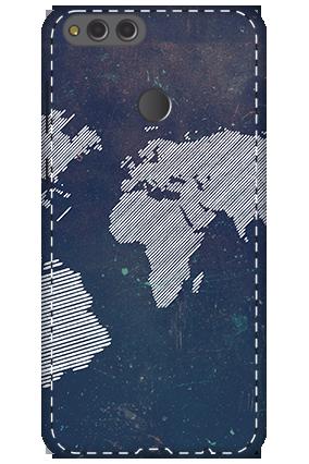 3D - Huawei Honor 7X Earth Globe Design Mobile Cover