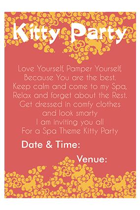 Kitty Pattern Invitation Card