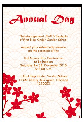 Annual Day Invitation Cards - Buy Annual Day Invites ...