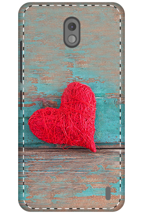 3D - Nokia 2 The Red Heart Mobile Cover