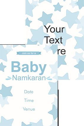 Blue star Namkaran Invitation Card