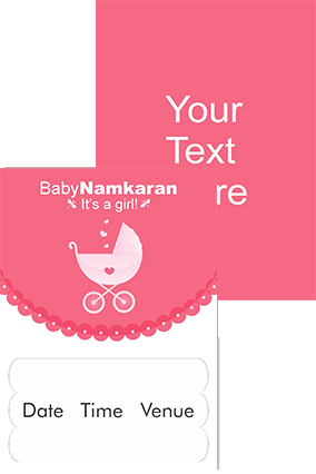 baby's walker Namkaran Invitation Card
