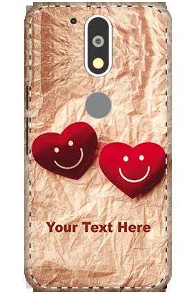 3D - Motorola Moto G4 Plus White High Grade Plastic Smiley Heart Mobile Cover