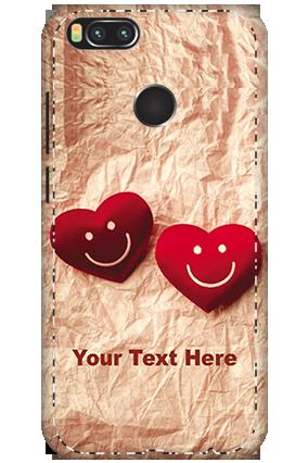 3D - Xiaomi Mi A1 White High Grade Plastic Smiley Heart Mobile Cover