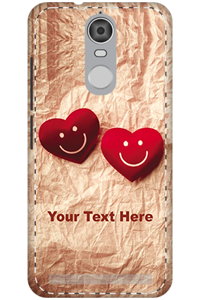 3D - Lenovo K5 Note Mobile Cover White High Grade Plastic Smiley Heart Mobile Cover