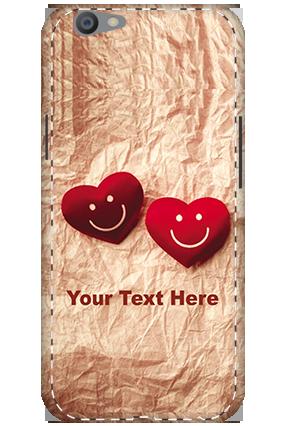 3D - Oppo F1S White High Grade Plastic Smiley Heart Mobile Cover