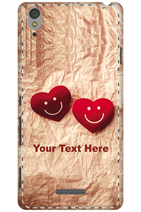 3D - Sony Xperia T3 White High Grade Plastic Smiley Heart Mobile Cover