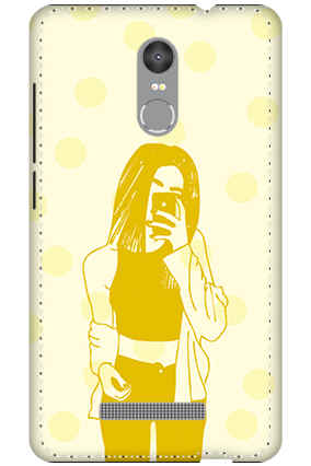 3D - Redmi Note 3 White High Grade Plastic Totally Girlish Mobile Cover