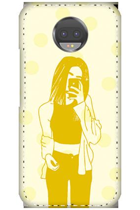 Designer 3D-Motorola Moto G5S Plus White High Grade Plastic Totally Girlish Mobile Cover
