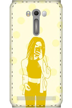 3D - Asus ZenFone 2 Laser ZE500KL White High Grade Plastic Totally Girlish Mobile Cover