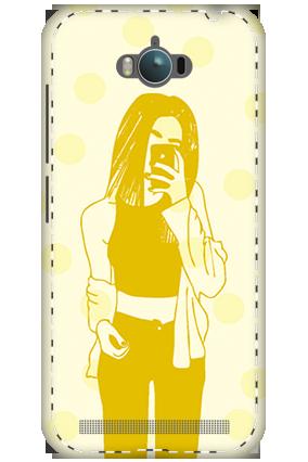 3D - Asus Zenfone Max ZC550KL White High Grade Plastic Totally Girlish Mobile Cover