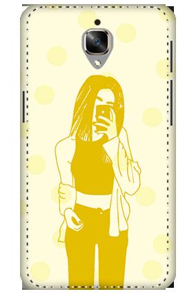 3D - Oneplus 3T White High Grade Plastic Totally Girlish Mobile Cover