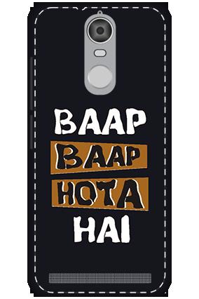 3D - Lenovo K5 Note Mobile Cover White High Grade Plastic Baap Baap Hota Hai Mobile Cover