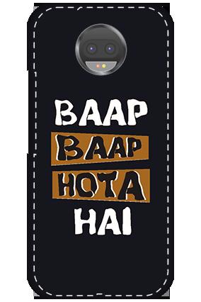 Customize 3D-Motorola Moto G5S Plus White High Grade Plastic Baap Baap Hota Hai Mobile Cover