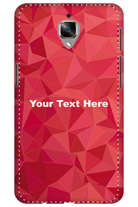 3D - Oneplus 3T White High Grade Plastic Crystal Red  Mobile Cover