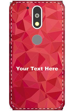 3D - Motorola Moto G4 Plus White High Grade Plastic Crystal Red  Mobile Cover