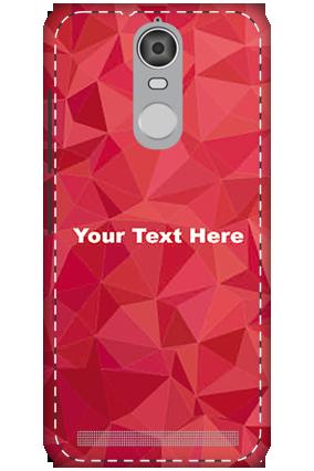 3D - Lenovo K5 Note Mobile Cover White High Grade Plastic Crystal Red  Mobile Cover