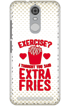 3D - Lenovo K5 Note Mobile Cover White High Grade Plastic Extra Fries Mobile Cover