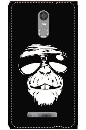 Custom 3D-Redmi Note 3 White High Grade Plastic Funky Monkey Mobile Cover