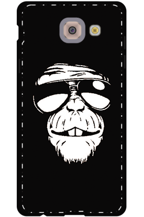 3D - Samsung Galaxy j7 Max  White High Grade Plastic Funky Monkey Mobile Cover