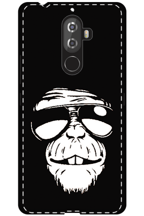 3D -Lenovo K8 Note White High Grade Plastic Funky Monkey Mobile Cover