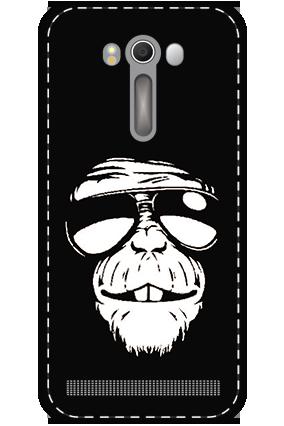 3D - Asus ZenFone 2 Laser ZE500KL White High Grade Plastic Funky Monkey Mobile Cover