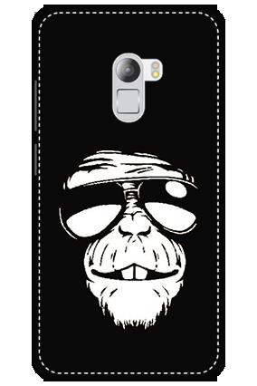 3D - Lenovo K4 Note White High Grade Plastic Funky Monkey Mobile Cover