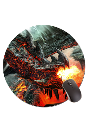 Dragon Round Mouse Pad