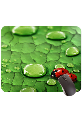 Red Bugs Rectangular Mouse Pad