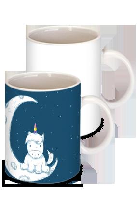 Personalized Moon Light White Ceramic Kids Coffee Mug