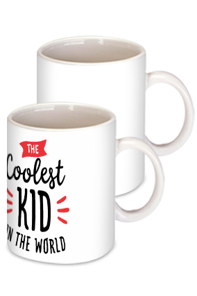 Coolest Kid White Ceramic Kids Coffee Mug