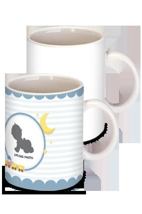 Playing Train White Ceramic Kids Coffee Mug