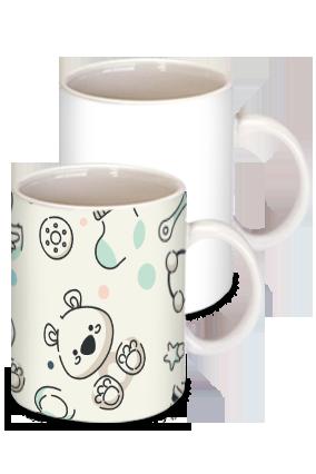 Kids Toys White Ceramic Kids Coffee Mug